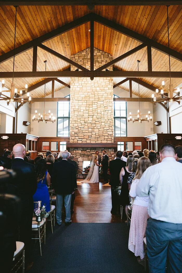 View of a wedding at StoneWater